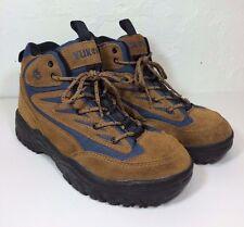 Unisex Yukon Rainier Leather Boots Brown and Blue Size 7.5 EUC
