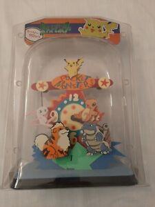 Pokemon Pendulum Clock Pikachu Charizard Chansey Squirtle Clefairy... Vintage