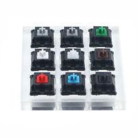 9 Keys Switch Tester Shaft + 9 Keycap puller keyboard Sampler Kit for Cherry MX