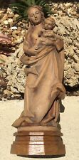 """EXQUISITE VINTAGE ANRI ITALY CARVED WOOD MADONNA & CHILD / 11"""" / HIGHLY DETAILED"""