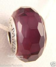 FASCINATING PURPLE Authentic PANDORA Silver/Murano Glass FASCETED Charm-Bead NEW
