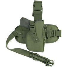 SURVIVAL TACTICAL Holsters Pistol Gun DROP LEG Thigh Holster Pouch Holder OD