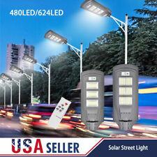 990000LM Solar Street Light LED Outdoor Flood Lights IP67 Dusk-to-Dawn Area Road