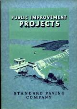Public Improvement Projects Booklet Standard Paving Company 1926 Spavinaw Dam