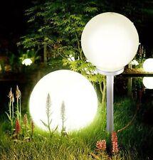 More details for jumbo giant led solar garden mood ball sphere globe stake light white