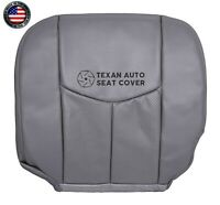 04 Cadillac Escalade ESV 4X4 -Driver Bottom Leather Replacement Seat Cover Gray