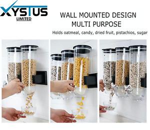 Gelentea Dispensador de cereales para alimentos secos y cereales de pl/ástico