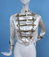 ANTIQUE MILITARY STYLE SATIN HALLOWEEN COSTUME JACKET FOR DRESS