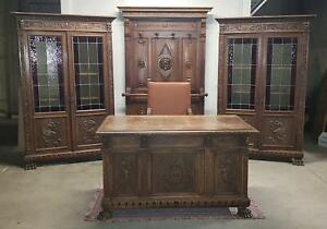 Fabulous Studio Renaissance 2 Libraries Double Desk Armchair Coat Hangers