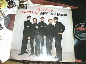 MANFRED MANN  -    The Five Faces Of....  ORIGINAL 1964 UK MONO DEBUT LP / inner