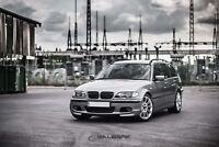 schwarz glänzende Nieren 3er BMW E46 Touring FL Grill M3 Look Salberk 4602