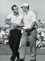 Jack Nicklaus Arnold Palmer UNSIGNED 8X10 photo C