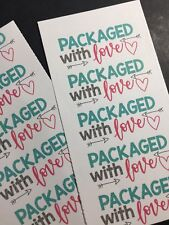 50 Packaged With Love Sticker Labels