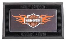 Harley-Davidson Entry Floor Mat, Flame Bar & Shield Kitted Set, Black P14004901