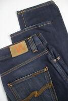 RRP €139 NUDIE JEANS GRIM TIM CLEAN BLUE Men's W31/L32 Faded Jeans 2513_mm