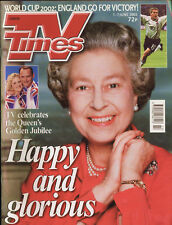 TV TIMES 6/02 - The Queen, FIFA World Cup, Leslie Ash, David Suchet