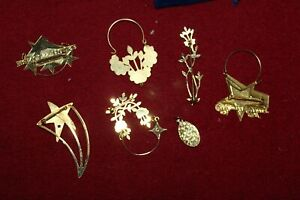 L Princess House Consultant Vintage Award Pins and Charm Holders Preowned 7 item