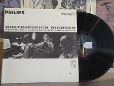 ROSTROPOVICH RICHTER BEETHOVEN SONATAS FOR PIANO & CELLO - LP PHS 2-920