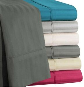 Soft Bedding Item Extra Deep Pocket Egyptian Cotton US King Size Striped Colors