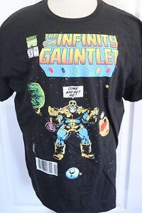 Marvel Thanos Infinity Gauntlet Black T-Shirt Mens 2XL Avengers Comic Book Con