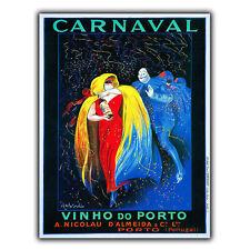 Carnaval Vinho Do Porto Metal Sign Wall Plaque French Vintage Retro Advert Print