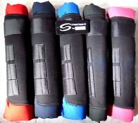 EQUESTRIAN HORSE STABLE NEOPRENE TRAVEL BOOTS LEG PROTECTION WRAP - SET OF FOUR