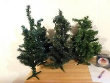 Lot of 4 Evergreen Trees 12� With Bendable Branches For Lighted Displays
