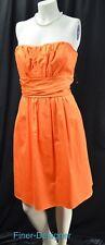 Davids Bridal dress SAFFRON orange Bridesmaid 83312 strapless sateen cotton 10