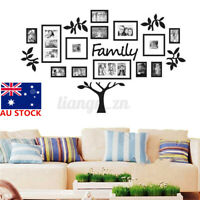 AU DIY Photo Frame Family Tree Picture Collage Wall Art Hanging Home Decor Gift