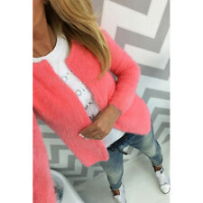Women Fleece Long Sleeve Cardigan Coat Ladies Sweater Casual Jacket Tops Outwear