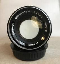 Olympus 50mm f1.4 Zuiko Auto-S 50/1.4 OM Prime Lens Excellent Condition