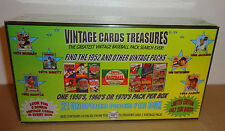 VINTAGE CARDS TREASURES BASEBALL BOX!  FIND THE 1952 TOPPS PACK! MANTLE, BRETT?