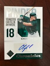 CHAD PINDER 2018 PANINI CHRONICLES BLUE INK AUTO, OAKLAND A'S