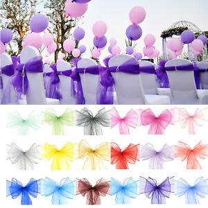 Organza Stuhlschärpe Schleife Stuhlschleifen Schleifenbänder Stuhl Hochzeitsdeko