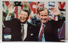 President Ronald Reagan and Vise President George Bush Postcard B6
