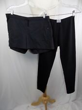 Lot of 2 EVERLAST Adidas Women's Black SHORTS & Capri Pants Size Large USA