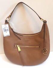 ae7d2e947e17bb NEW Michel Kors Rhea Medium Acorn Brown Leather Zip Shoulder Bag Hobo NWT  $268