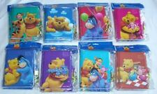 8 pieces Disney Licensed Winnie the Pooh Diary Notebook Diaries with Lock & Keys