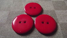 6 BOUTONS ROUGE  23 mm * 2 trous * button sewing neuf lot 2,3 cm RED couture