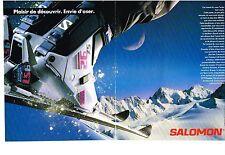 PUBLICITE ADVERTISING    1989   SALOMON chaussures de ski  (2 pages)
