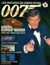 FASCICULE BOOKLET JAMES BOND 007 LOTUS ESPRIT TURBO N°9