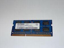 2GB RAM 2Rx8 PC3-10600S SODIMM DDR3 1333MHZ ELPIDA EBJ21UE8BFU0-DJ-F MEMORY NOTE