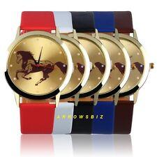 Horse Photo Dial Leather Strap Analog Quartz Wrist Watch Watches Gift Unisex New