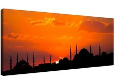 Blue Mosque Istanbul Orange Sunset - Modern Islamic Canvas 120cm Wide