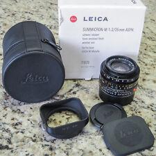 Leica M Summicron 35mm f2 ASPH Lens (Black) 11879