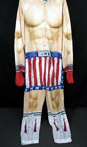 Rocky Balboa Costume Union Suit Jumpsuit M Sylvester Stalone Muscles Boxer