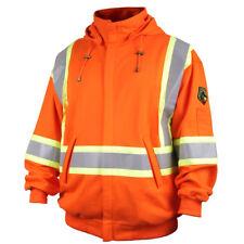 Revco Black Stallion Fr Hooded Sweatshirt Orange Reflective Safety Stripes