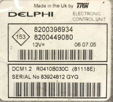 Calculateur moteur DCM1.2 Renault 1.5 DCI R0410B030C 8200398934 8200449080