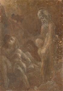 For Restoration - Attrib. Gyorgy B. Farkas (1911-1995) - Oil, Wraithlike Figures
