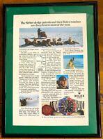 ♛ ROLEX Vintage GMT Master 16750 Original Advert Advertising Memorabilia Frame ♛